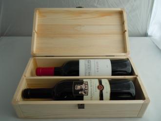 Elegante Cofanetto con 2 Bottiglie di Vino Teroldego
